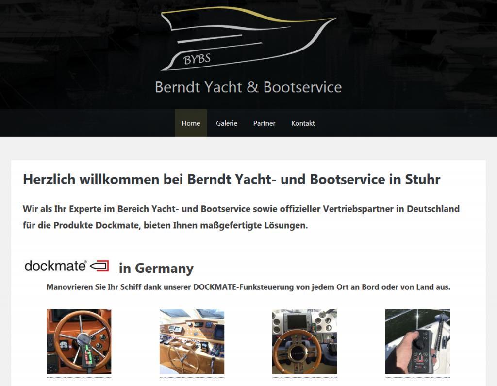 Homepage der Firma Berndt Yacht & Bootservice